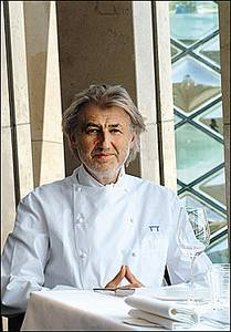 Pierre Gagnaire; 'I would never criticise'.
